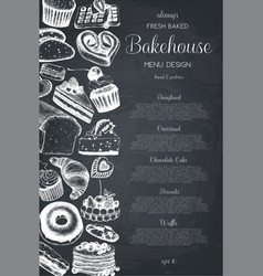 hand drawn baking design vector image