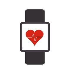 heartbeat monitor wristband icon vector image vector image
