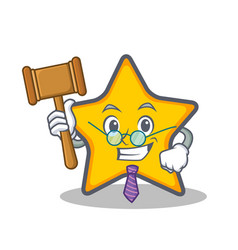 Judge star character cartoon style vector