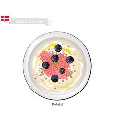 koldskal or fridge buttermilk vector image vector image