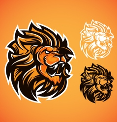 Lion red logo vector