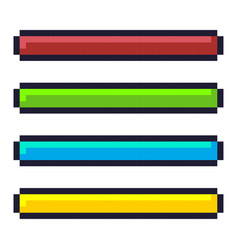 loading progress bar pixel art cartoon retro game vector image