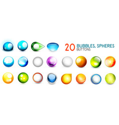mega collection of color sphere buttons vector image