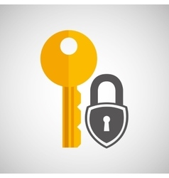 padlock key secure safety icon vector image