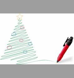 pen drawing vector image