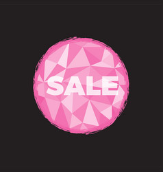 sale pink with polygon background vector image