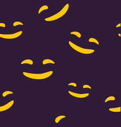 seamless pattern of smiling halloween face vector image