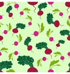 Seamless pattern radish and beet vector image