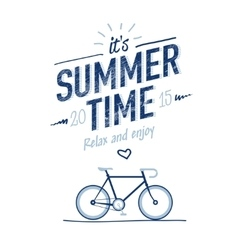 Summer time typography poster vector