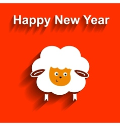 Symbol of 2015 Sheep element for New Years design vector image vector image
