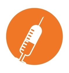 Injection syringe isolated icon vector