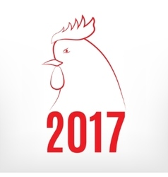 Symbol of 2017 year vector