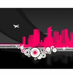 city pink vector image