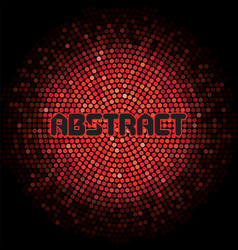 Futuristic abstract background with red mosaic and vector