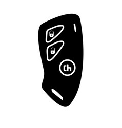 car key and of the alarm system black color icon vector image