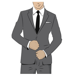 Business man in suit and tie vector