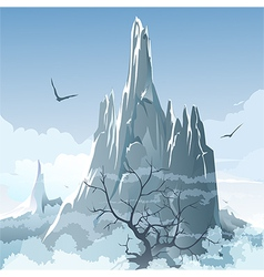 The mountains vector image