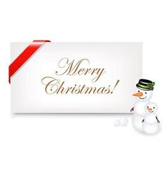 Christmas Blank Gift Tag vector image