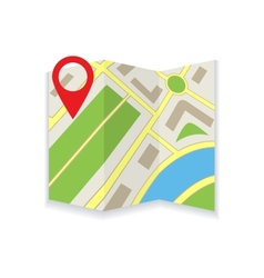 Icon foldable maps vector