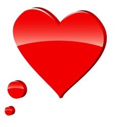 3d heart symbol vector image