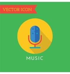 Microphone icon icon sound tools or dj vector