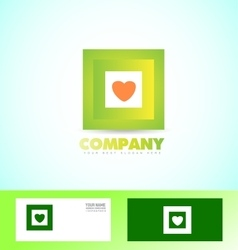 Green square logo icon business vector