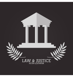 Law and justice design vector