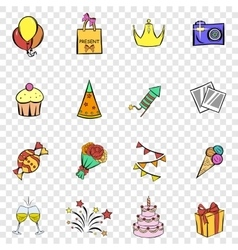 Party set icons vector