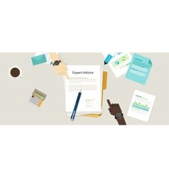 Expert advice flat concept vector