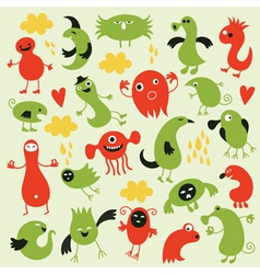 Set of little monsters vector