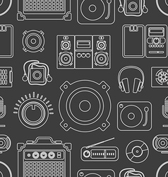 Audio equipment icons collection vector image