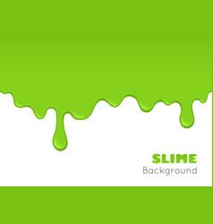 Background of dribble green slime vector