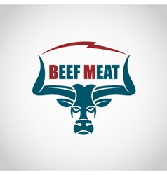 beef meat icon vector image