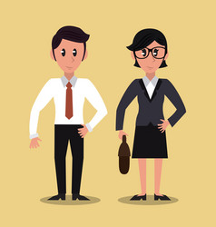business partners cartoon vector image vector image