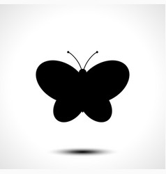 butterfly icon butterfly silhouette vector image vector image