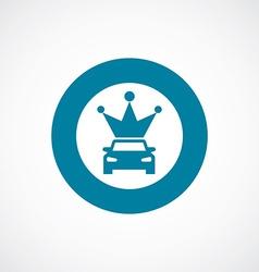 Car crown icon bold blue circle border vector