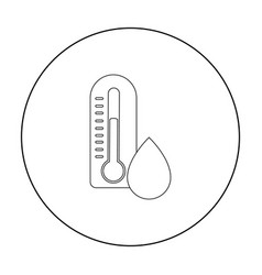 Damp day icon in outline style isolated on white vector