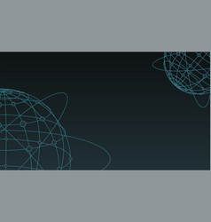 dark background global network connection planet vector image vector image