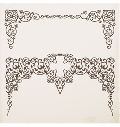 Decorative vintage frames and borders vector image