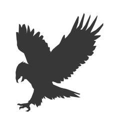 Eagle silhouette icon vector
