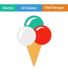 Flat design icon of ice-cream cone vector