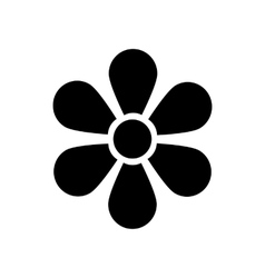 Flower icon in simple style vector image