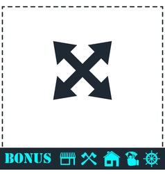 Four arrows icon flat vector image vector image