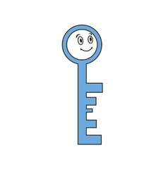 Funny key with human face vector image vector image