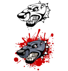 head of evil dog vector image