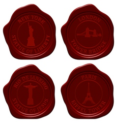 Landmark sealing wax set vector