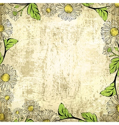 Leaf Grunge Vintage Floral Frame Background vector image vector image