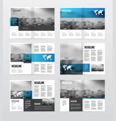 Magazine or catalog template vector