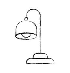 Monochrome blurred silhouette of desk lamp vector