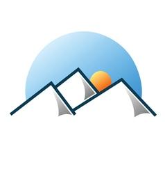 Mountain logo 3 vector